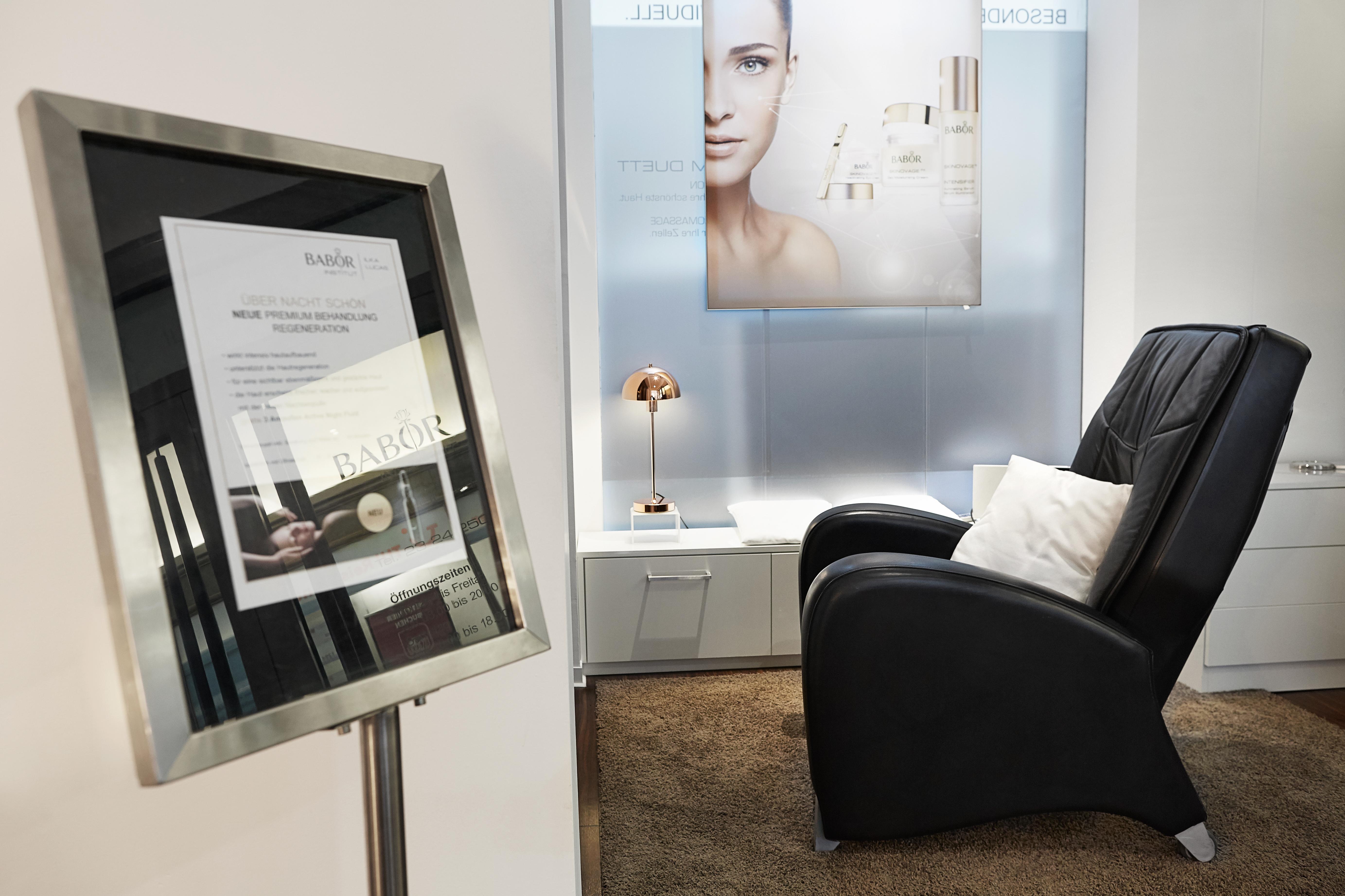 Babor Institut Ilka Lucas - Behandlungsbereich im Shop